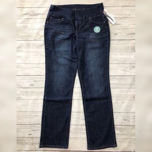 Jag Jeans High Rise Straight Leg Peri Dark Wash